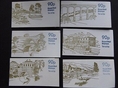 GB 1978/9 90p CANALS FOLDED BOOKLETS COMPLETE SG FG2-6 & 8