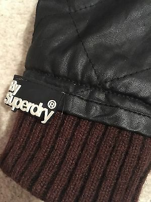 "Superdry ""Moody"" Bomber Jacket Black/Grey Ladies Size M"