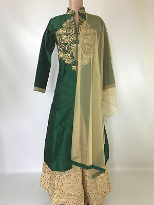 $50 flat Beautiful Anarkali Lehenga Suit hina party  indian wedding dress 34-40