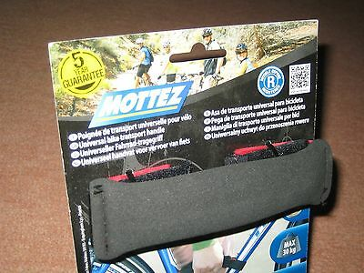 Mottez Universal Bike Transport Carry Handle, Black, Attaches To Cycle Frame NEW