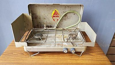 Vintage Primus Twin Burner Gas Stove  Portable Camping BBQ