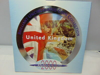2000 Uk Brilliant Uncirculated Coin Collection With Coa