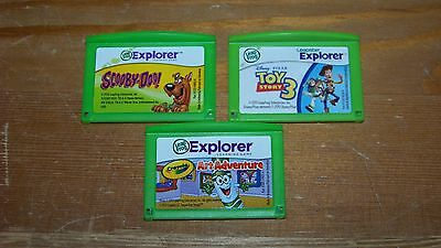 Leapster Explorer GS LeapPad Games Cartridges