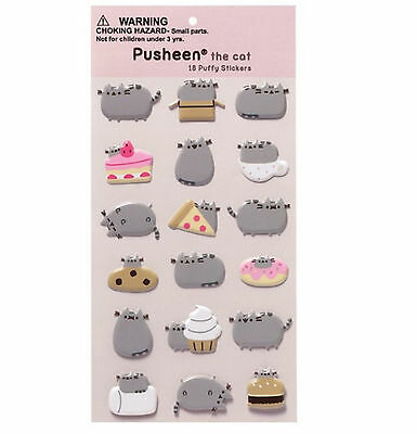 Gund Pusheen the Cat 18 Puffy Stickers One Sheet  ene 4048961 Bin HH