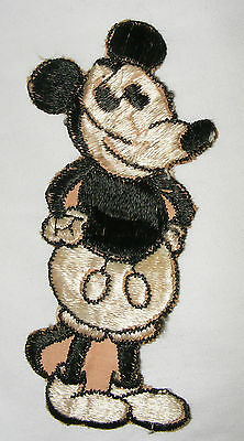Antique 1930's Original Walt Disney Mickey Mouse Applique Embroidered Motif
