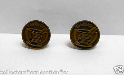 Vintage Pharmacy Pharmacist Cufflinks *Schering Laboratories* Pestle Mortar 1998