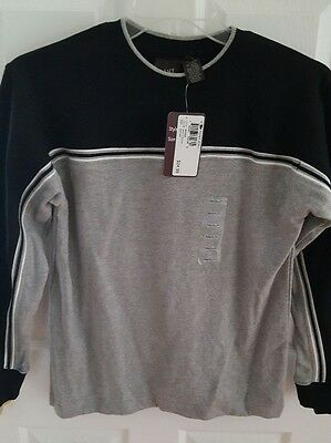 Men's Point Zero Pull-over Top in Black and Gray Knit, Long Sleeves Size M, NWT