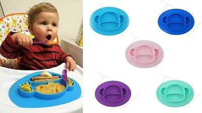 Silicone Mat Baby Kids Suction Table Food Tray Placemat plate UK STOCK