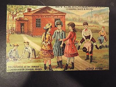 C.M. Henderson & Co. Celebrated Boots and Shoes Victorian Trade Card