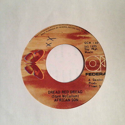 """7"""" African Son - Dread Red Dread FEDERAL Orig. Rare Roots Listen !"""