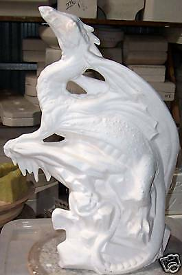 CERAMIC Bisque Ready to paint  Large Ice Dragon