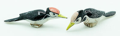 Figurine Miniature Animal Ceramic Statue 2 Woodpecker Bird - CBX056