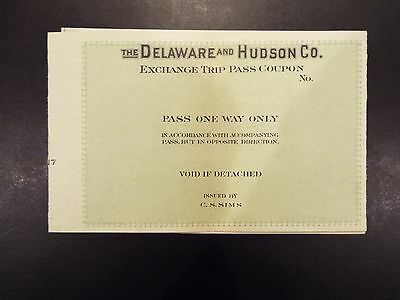 The Delaware and Hudson Co. Exchange Trip Pass Printers Proof 1917