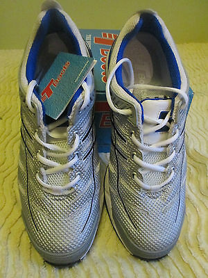 T Boots Silver Sports Safety Shoes, Joggers, Work Boots, Steel Cap, AUS/UK 10