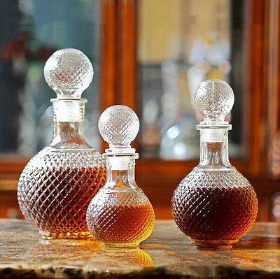 Crystal Whiskey Wine Shot Glass Bottle With Cap Stopper Drinking Bar Decanter AS