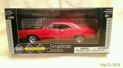 American Classic Motormax Toy 1969 Dodge Coronet Super Bee Red 1:24 Diecast