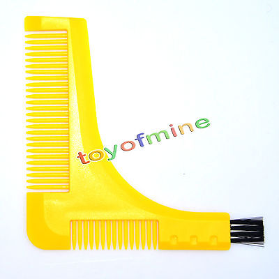 Beard stying and Shaping Comb Tool for Neck Cheek Line Moustache Shape Symmetry