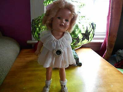 """Beautiful 13"""" Shirley Temple W/ Orig. Tag Embroidered Collar Organdy Dress SALE*"""