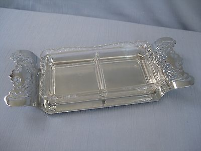 Vtg Farber Bros Krome Kraft Divided Serve Tray Condiment Dish Bowl