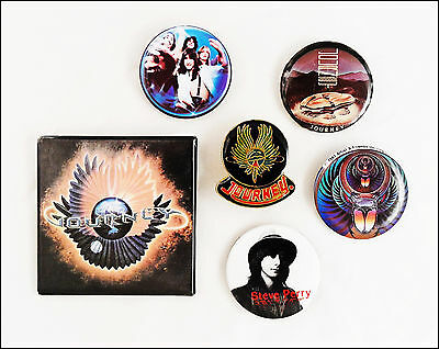Journey Steve Perry Lot Of 5 80's Buttons & Enamel Evolution Pin Departure