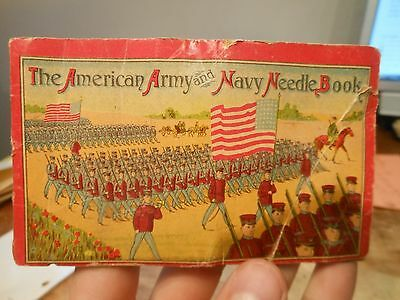 The American Army and Navy Needle Book World War I WWI Era Sewing Soldiers March