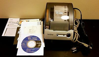 BROTHER P-Touch QL-500 Thermal Label Printer w/ USB Cable, CD, and Manual