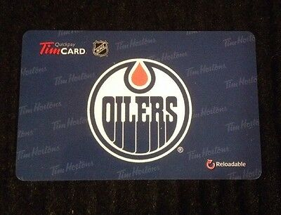 2015 Tim Hortons Nhl Edmonton Oilers Gift/tim Card New