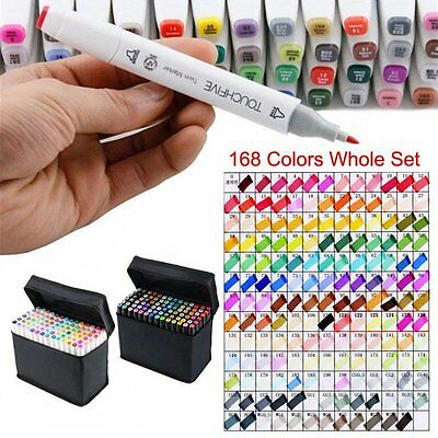 Touch Five Art Sketch Twin Marker Pen Broad Fine Point 40/60/80/168/218Color Set