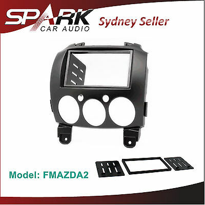 Mazda 2 Double 2 DIN FACIA KIT Panel Fascia Dash For 2007-2014
