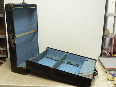 Antique Hartmann TOUROBE Wardrobe Steamer Trunk Chest Case Coffee Table with Key