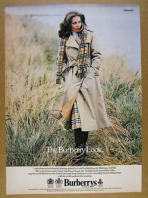 1978 Burberry Trenchcoat Skirt & Scarf lord lichfield photo vintage print Ad