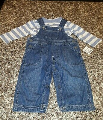 NWT First Impressions Baby Boys Long Sleeve Blue 2 piece Set 3-6 Months