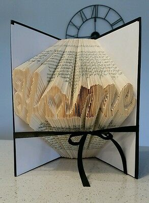 Home Heart Folded Book Art Decor Gift House Warming First Anniversary Birthday