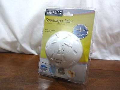New Baby Sleep Sound Machine Homedics Portable Mini Spa Therapy Battery Operated