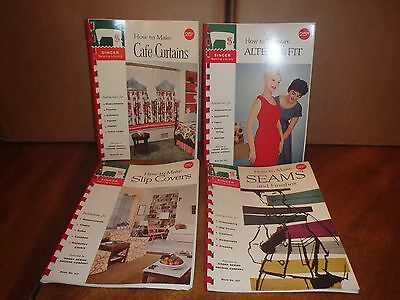 Lot of 4 Vintage Singer Sewing Books No.'s 114, 107, 113, and 106
