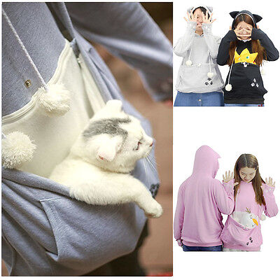Japanese Mewgaroo Nyangaroo Cute Cat Dog Pet Animal Casual Kangaroo Hoodie Coat