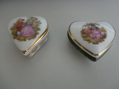 Two Limoges Trinket Boxes
