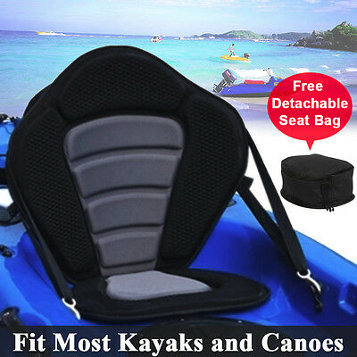 Detachable Deluxe Kayak Canoe Seat Backrest with Adjustable Straps & Snap Hook