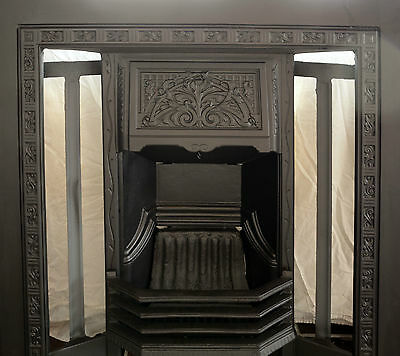Professionally restored floral hood fireplace c.1915-1940