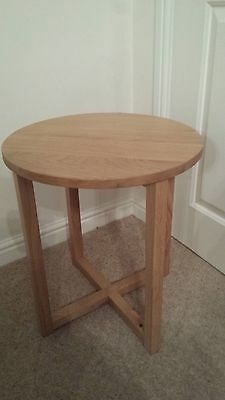 Solid Oak Small Round Oak Coffee Table
