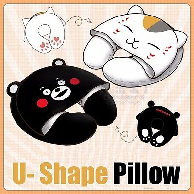 Kumamon Natsume Yuujinchou Plush U-Shape Pillow Neck Cute Hat Headrest Cushion
