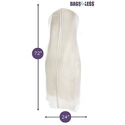 Dress Garment Bag White Breathable Wedding Gown Inch Wide Long Soft Storage Bags