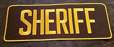 Large SHERIFF (Gold on Brown) Iron On Patch