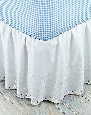 Broderie Anglaise Easy Fit Valance White King Size - New in Pack