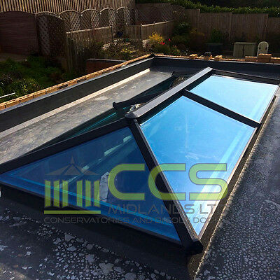 Roof Lantern Skypod - Anthracite Grey On White - 1000Mm X 1000Mm External Sizes