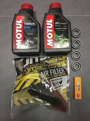 Beta Evo 2T Trials Service Kit 1 Motul Oil Air Filter Spark Plug Wheel Bearings