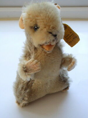 VINTAGE STEIFF NAGY BEAVER 2120/10-c.1950/60s stuffed toy with tag