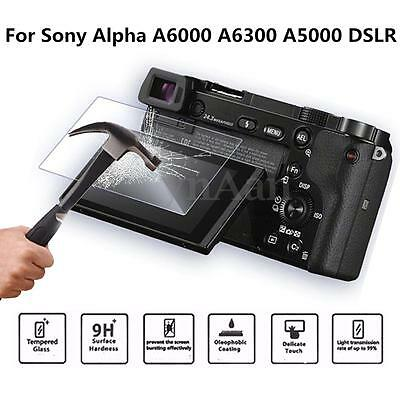 9H Film Tempered Glass Screen Protector For Sony Alpha A6000 A6300 A5000 DSLR