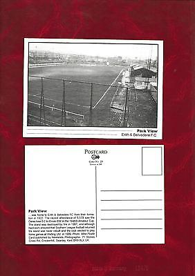 Postcard Erith + Belvedere football ground by Newlands Photographic