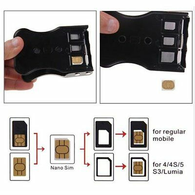 3/2/1 in 1 Universal SIM Card Cutter For Mobile Phones Cell Phone F9